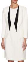 Narciso Rodriguez Wool Contrast Open Blazer