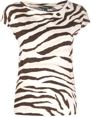 Lauren Ralph Lauren zebra print T-shirt