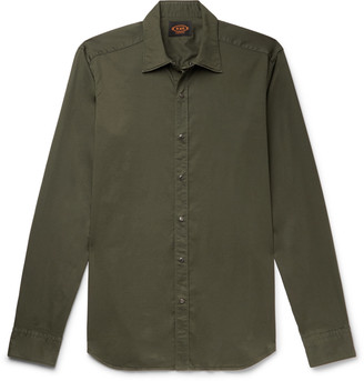 Tod's Slim-Fit Garment-Dyed Cotton-Blend Twill Shirt