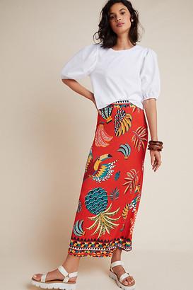 Farm Rio Gabriela Knit Maxi Skirt By in Assorted Size XL