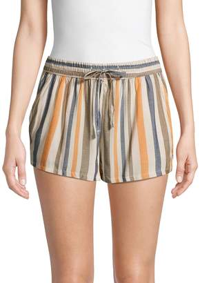 Onia Aleen Striped Cover-Up Shorts