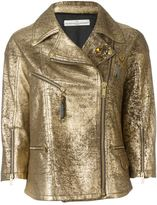 Golden Goose Deluxe Brand 'Road' biker jacket - women - Cotton/Sheep Skin/Shearling/Cupro/Viscose - M