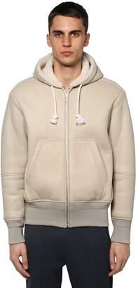 Maison Margiela Leather & Shearling Hooded Jacket