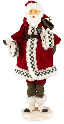 Mackenzie Childs Happy Holidays Santa Figurine
