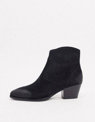 Ash Heidi mid heel ankle boot in black