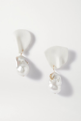COMPLETEDWORKS Table Talk Gold Vermeil, Pearl And Ceramic Earrings - White