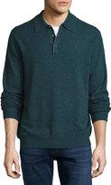 Neiman Marcus Cashmere Polo Sweater, Spruce