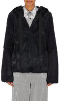 Robert Rodriguez Women's Reversible Rabbit Fur Hoodie