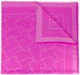 Jimmy Choo printed scarf - women - Silk/Polyester/Viscose/Wool - One Size