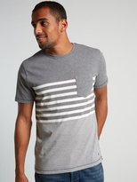 White Stuff Swag engineer stripe ss tee