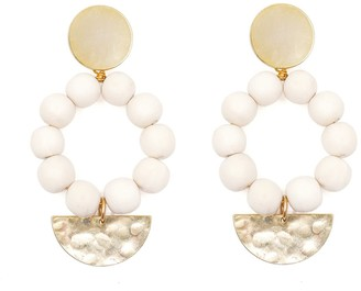 Soli & Sun The Angie White Bead Statement Earrings