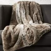 CB2 Light Grey Faux Fur Throw