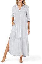 DKNY Striped Maxi Sleepshirt
