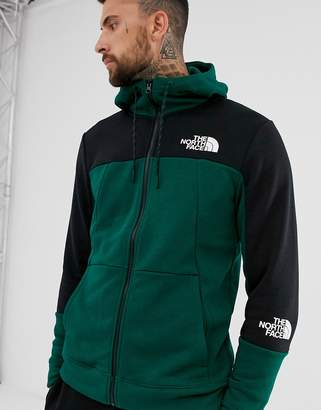 The North Face Mountain Lite full zip hoodie in night green
