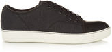 Lanvin Lace-up low-top grained-leather trainers