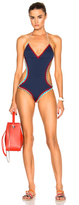Kiini Tasmin Mono Swimsuit in Blue.