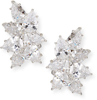FANTASIA Cubic Zirconia Cluster Earrings, Clear