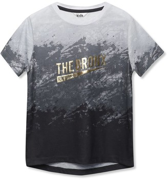 M&Co Bronx gold foil slogan t-shirt (3-12yrs)