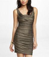 Express Textured Metallic Ruched Dress