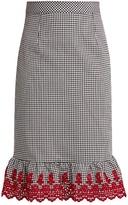 Altuzarra Benson broderie-anglaise cotton-blend skirt