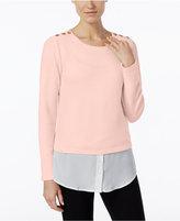 Calvin Klein Textured Layered-Look Sweater