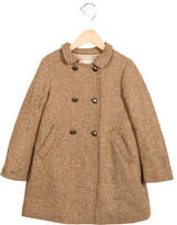 Bonpoint Girls' Metallic-Accented Wool Coat