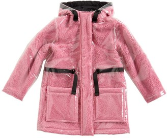 Little Marc Jacobs Hooded Pvc & Faux Fur Parka Coat