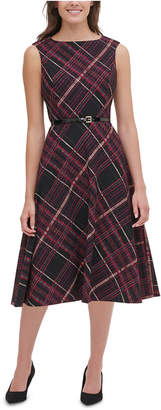 Tommy Hilfiger Piper Belted Plaid Fit & Flare Dress