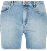 Etoile Isabel Marant Cedar Frayed Denim Shorts - Light denim