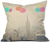 DENY Designs Maybe Sparrow Photography Balloons Over The City Throw Pillow