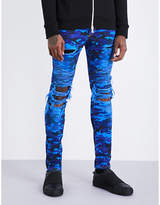 Balmain Camouflage-patterned distressed slim-fit skinny jeans
