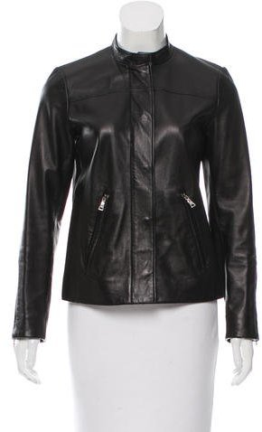 Prada Leather Fitted Jacket
