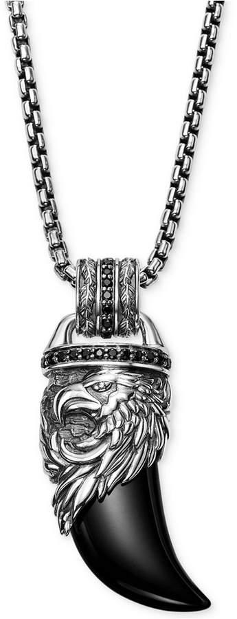 Scott Kay Men's Onyx & Black Sapphire (3/4 ct. t.w.) Pendant Necklace in Sterling Silver