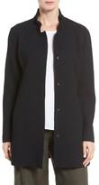 Eileen Fisher Petite Women's Grid Stretch Cotton & Tencel Blend Jacket