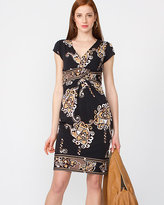 Le Château Floral Print Knit V-Neck Dress