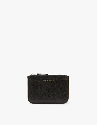 Comme des Garcons Men's Colour Inside SA3100IC Wallet in Black/Blue | Leather