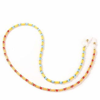 Generic Fashion Glasses Chain For Women Sunglasses Stone Beaded (Orange/Yellow)