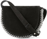 Paco Rabanne embellished loops shoulder bag - women - Suede/metal - One Size