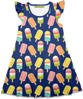 Millie Loves Lily Girls' Casual Dresses Popsicle - Navy Popsicle Angel-Sleeve A-Line Dress - Toddler & Girls