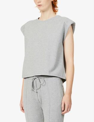 Prevu Aruba padded-shoulder stretch-jersey T-shirt