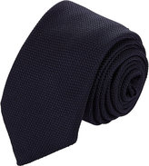 Barneys New York Men's Grenadine Necktie-NAVY