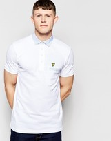 Lyle & Scott Fabric Mix Collar Polo Shirt