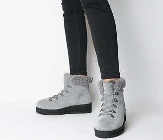 UGG Birch Lace Up Shearling Boots Geyser