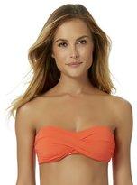 Anne Cole Women's Live In Color Twist Bandeau Bra Swim Top-XL-AC17-Orange