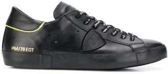 Philippe Model side patch detail lace-up sneakers
