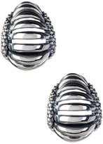 Lagos Sterling Silver Signature Caviar Interlude Earrings