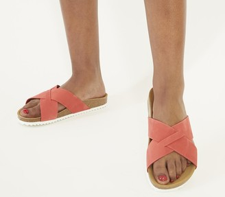 Office Soho Cross Strap Sandals Coral Nubuck