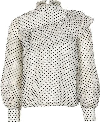 River Island Girls White polka dot organza blouse