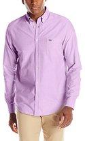 Lacoste Men's Long Sleeve Oxford Regular Fit Button Down Woven Shirt
