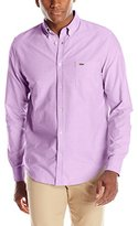Lacoste Men's Long Sleeve Regular Fit Bd Oxford Solid Woven Shirt